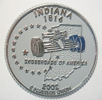 Indiana State Quarter Fridge Magnet Design 13