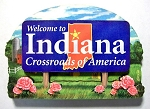 Indiana State Welcome Sign Artwood Magnet Design 14