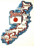 Japan Map Outline Fridge Magnet Design 25