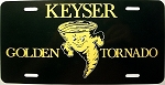 Keyser Golden Tornado License Plate Design 2