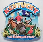 Kentucky Montage Artwood Magnet Design 16