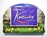 Kentucky State Welcome Sign Artwood Fridge Magnet Design 14