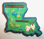 Louisiana Multi Color Fridge Magnet Design 18