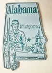 Alabama State Fridge Magnet Design 3