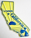 California Sacramento United States Fridge Magnet Design 3