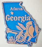 Georgia Atlanta United States Fridge Magnet Design 3