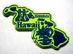 Hawaii The Aloha State Map Fridge Magnet Design 3