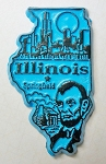 Illinois Springfield United States Fridge Magnet Design 3