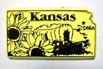 Kansas Topeka United States Fridge Magnet Design 3
