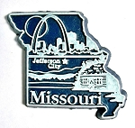 Missouri Jefferson City United States Fridge Magnet Design 3