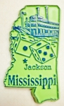Mississippi Jackson United States Fridge Magnet Design 3