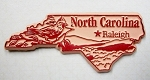 North Carolina Outline Fridge Magnet Design 3