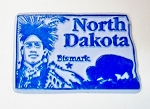 North Dakota Bismark United States Fridge Magnet Design 3