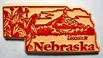 Nebraska Lincoln United States Fridge Magnet Design 3