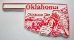 Oklahoma State Outline Fridge Magnet Design 3