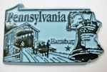 Pennsylvania State Outline Fridge Magnet Design 3