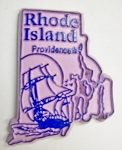 Rhode Island State Outline Fridge Magnet Design 3