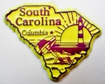 South Carolina State Outline Fridge Magnet Design 3