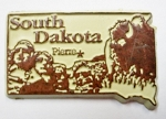 South Dakota State Outline Fridge Magnet Design 3