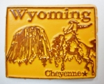 Wyoming State Outline Fridge Magnet Design 3