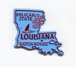 Louisiana State Outline Fridge Magnet Design 1