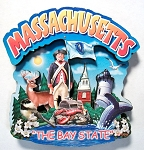 Massachusetts Montage Artwood Fridge Magnet Design 16