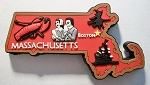 Massachusetts Multi Color Fridge Magnet Design 18