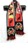 Maryland Flag With Crab Winter Knit Scarf Design 10