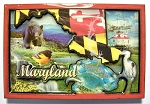 Maryland Cartoon Collage Fridge Magnet Design 27