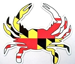 Maryland Crab Shaped Car Magnet Design 10