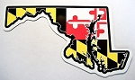 Maryland Flag State Shaped Car Magnet