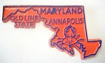 Maryland State Outline Fridge Magnet Design 1
