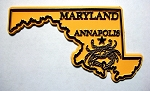 Classic Maryland with Crab Fridge Magnet Design 25