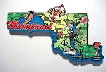 Maryland State Outline Decowood Jumbo Fridge Magnet Design 10