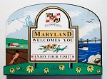 Maryland State Welcome Sign Decowood Fridge Magnet Design 10
