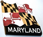 Maryland Flag Artwood Fridge Magnet Design 10