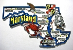 Maryland Jumbo Map Fridge Magnet Design 9
