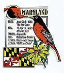 Maryland The Old Line State Montage Fridge Magnet Design 5