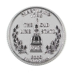 Maryland State Quarter Fridge Magnet Design 13