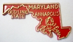 Maryland State Outline Fridge Magnet Design 10