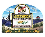 Maryland State Welcome Sign Artwood Fridge Magnet Design 14