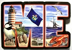 Maine Artwood Initial Fridge Magnet Design 19