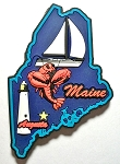 Maine Multi Color Fridge Magnet Design 18