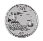 Maine State Quarter Fridge Magnet Design 13