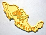 Mexico Outline Fridge Magnet Design 1
