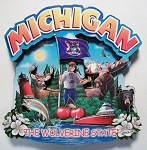 Michigan Montage Artwood Fridge Magnet Design 16