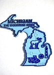 Michigan the Wolverine State Map Fridge Magnet Design 2