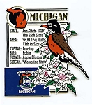 Michigan The Wolverine State Montage Fridge Magnet Design 5
