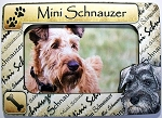 Mini Schnauzer Picture Frame Fridge Magnet