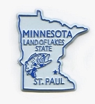 Minnesota State Outline Fridge Magnet Design 1
